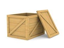 Caja de madera vacía Fotos de archivo libres de regalías
