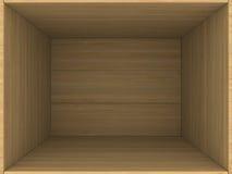 Caja de madera vacía Fotografía de archivo