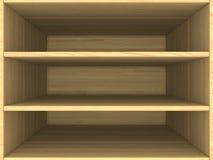 Caja de madera vacía Imagen de archivo