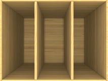 Caja de madera vacía Imagenes de archivo