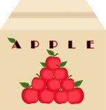 Caja de manzanas Imágenes de archivo libres de regalías