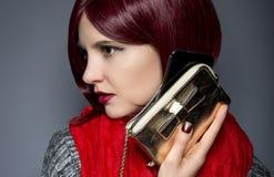 Caja de moda del teléfono celular Imágenes de archivo libres de regalías