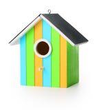 Caja de pájaro divertida Fotografía de archivo libre de regalías
