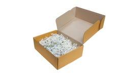 Caja de papel. foto de archivo libre de regalías