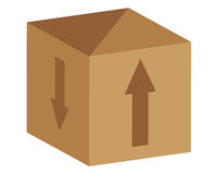 Caja de papel ilustración del vector