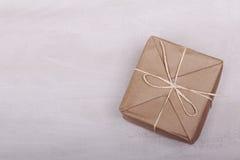 Caja de papel de empaquetado de Brown Fotografía de archivo