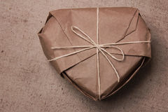 Caja de papel de empaquetado de Brown Fotos de archivo libres de regalías