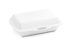 Caja de papel reciclada de empaquetado en blanco de la comida para la comida Fotos de archivo libres de regalías