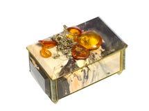 Caja de piedra para el almacenamiento de la joyería Fotografía de archivo
