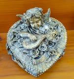 caja de plata de la querube del victorian Imágenes de archivo libres de regalías