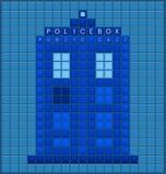 Caja de policía vieja ilustración del vector