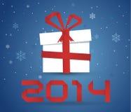 Caja de regalo 2014 Fotografía de archivo libre de regalías