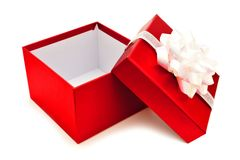 Caja de regalo abierta Fotografía de archivo libre de regalías