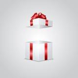 Caja de regalo con efecto luminoso Foto de archivo