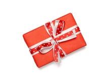 Caja de regalo con el arco de la cinta Imagen de archivo