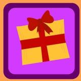 Caja de regalo con la cinta roja para los presentes Plantilla Editable del ejemplo del vector Fotografía de archivo libre de regalías