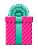 Caja de regalo con un ejemplo del vector del arco Foto de archivo libre de regalías