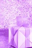 Caja de regalo - día de tarjetas del día de San Valentín - fotos comunes Fotografía de archivo libre de regalías