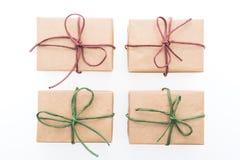 Caja de regalo de Brown foto de archivo