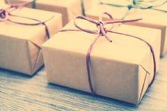 Caja de regalo de Brown imagen de archivo