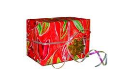 Caja de regalo de cinta de papel Imágenes de archivo libres de regalías