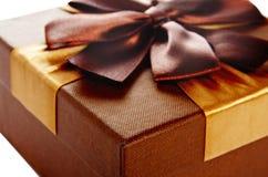 Caja de regalo de color de la turquesa Imagenes de archivo