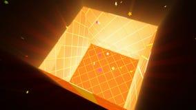 Caja de regalo de la abertura, animación 3d