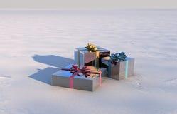 Caja de regalo de la Navidad Imagen de archivo