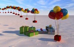 Caja de regalo de la Navidad Imagen de archivo libre de regalías