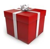Caja de regalo de la Navidad Imagenes de archivo