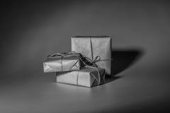 Caja de regalo de la Navidad en blanco Imagen de archivo libre de regalías