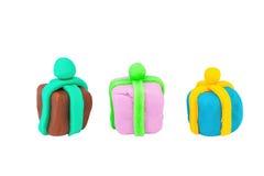 Caja de regalo de la plastilina Foto de archivo libre de regalías