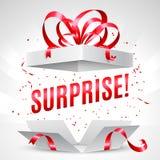 Caja de regalo de la sorpresa ilustración del vector