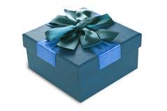 Caja de regalo de la turquesa Imágenes de archivo libres de regalías