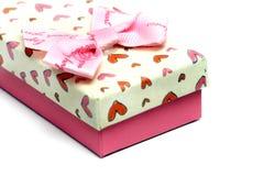 Caja de regalo del amor Imagen de archivo libre de regalías