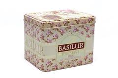 Caja de regalo del té de Basilur Ceilán Imagen de archivo libre de regalías