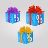 Caja de regalo del vector Imagen de archivo
