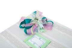 Caja de regalo en blanco Imagenes de archivo