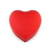 Caja de regalo en la forma de un corazón aislado en el fondo blanco 3 Imagen de archivo
