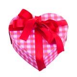 Caja de regalo en la forma del corazón Foto de archivo libre de regalías