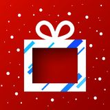 Caja de regalo en nieve stock de ilustración