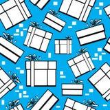 Caja de regalo inconsútil del modelo Fotografía de archivo