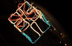 Caja de regalo de la iluminación como decoración Imagenes de archivo