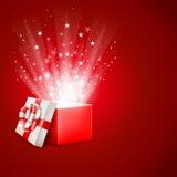 Caja de regalo mágica Imagenes de archivo