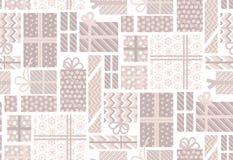 Caja de regalo pálida clasificada del color Feliz Año Nuevo y Navidad Imagen de archivo