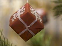 Caja de regalo para la Navidad Imagen de archivo