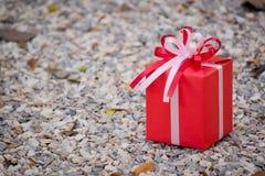 Caja de regalo roja Imagen de archivo libre de regalías