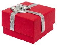 Caja de regalo roja foto de archivo