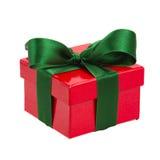 Caja de regalo roja Imágenes de archivo libres de regalías