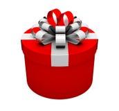 Caja de regalo roja Fotografía de archivo libre de regalías